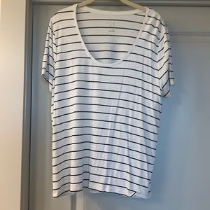White and black stripped shirt